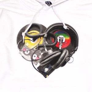 Ongaku Womens In Love Hoodie White - Shop True Clothing