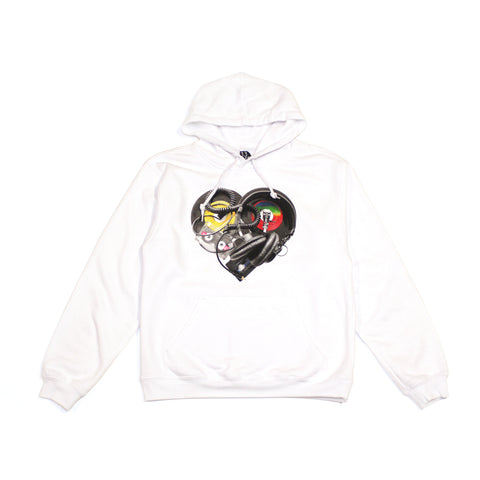 Ongaku Womens In Love Hoodie White