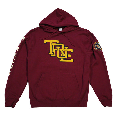 Mens True Interlocked Hoodie Maroon