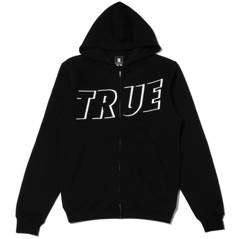 Mens True Just Use It Zip Hoodie Black