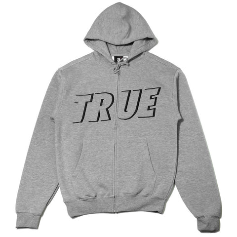 Mens True Just Use It Zip Hoodie Heather Grey