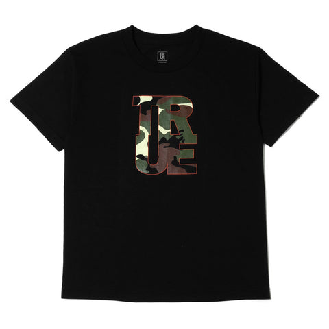 Kids True Logo Camo T-Shirt Black