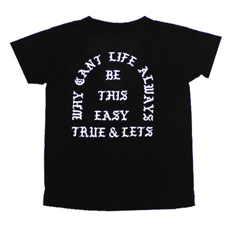 True x Let's Stay Cool Kids T-Shirt Black - Shop True Clothing