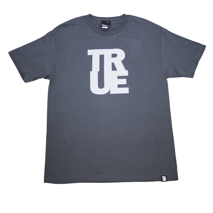 True Mens Logo T-Shirt Charcoal / Grey