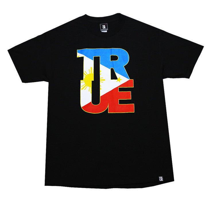 Mens True Logo Fill Pinoy T-Shirt Black