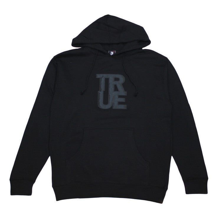 Mens True Logo Hoodie Black / Black - Shop True Clothing