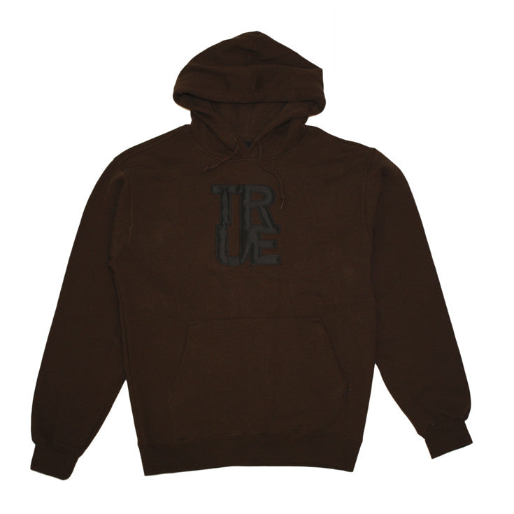 Mens True Logo Hoodie Brown / Black - Shop True Clothing
