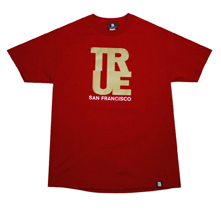 Mens True Logo SF T-Shirt Red / Gold