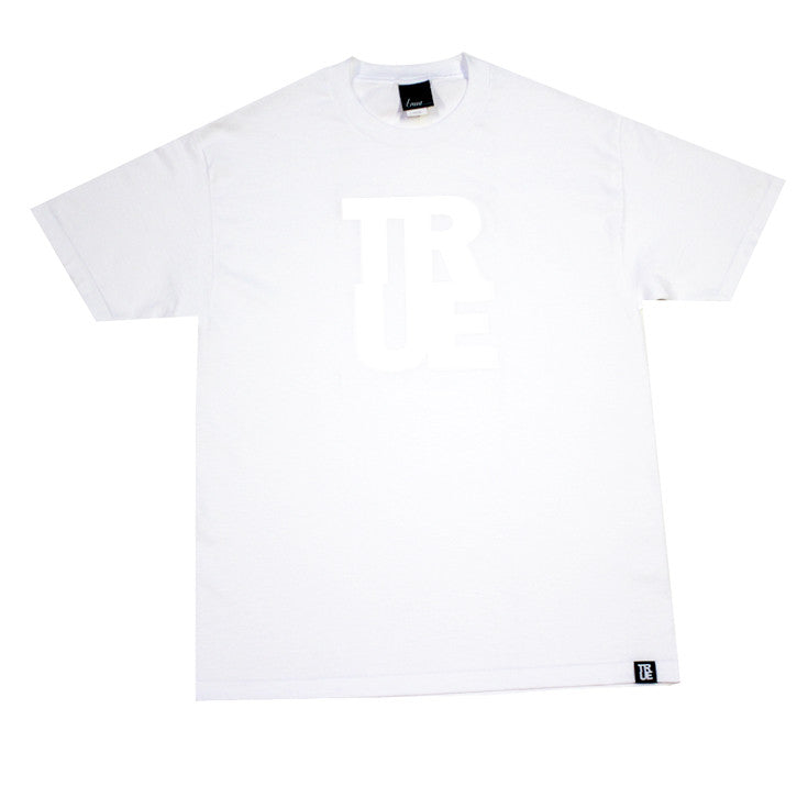 Mens True Logo White / White - Shop True Clothing