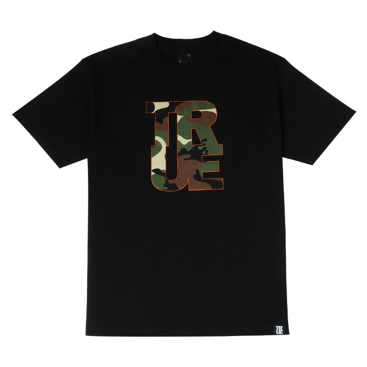 Mens True Logo Camo T-Shirt Black