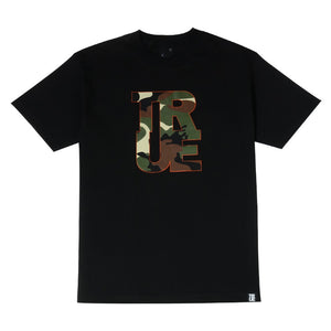 Mens True Logo Camo T-Shirt Black - Shop True Clothing