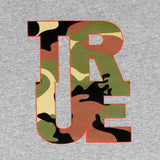 Mens True Logo Camo T-Shirt Heather Grey