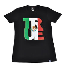 Load image into Gallery viewer, True Womens Logo Fill Mexico T-Shirt Black. - Shop True Clothing