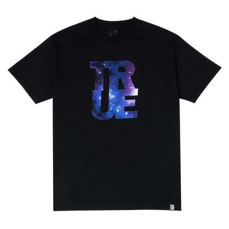 Mens True Logo Galaxy T-Shirt Black