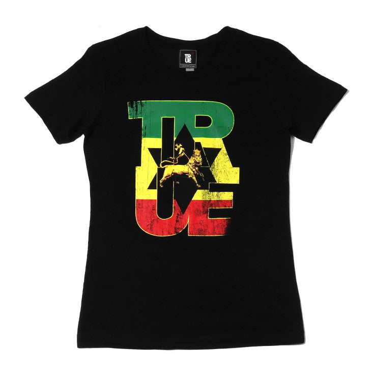 Womens True Logo Lion T-Shirt Black