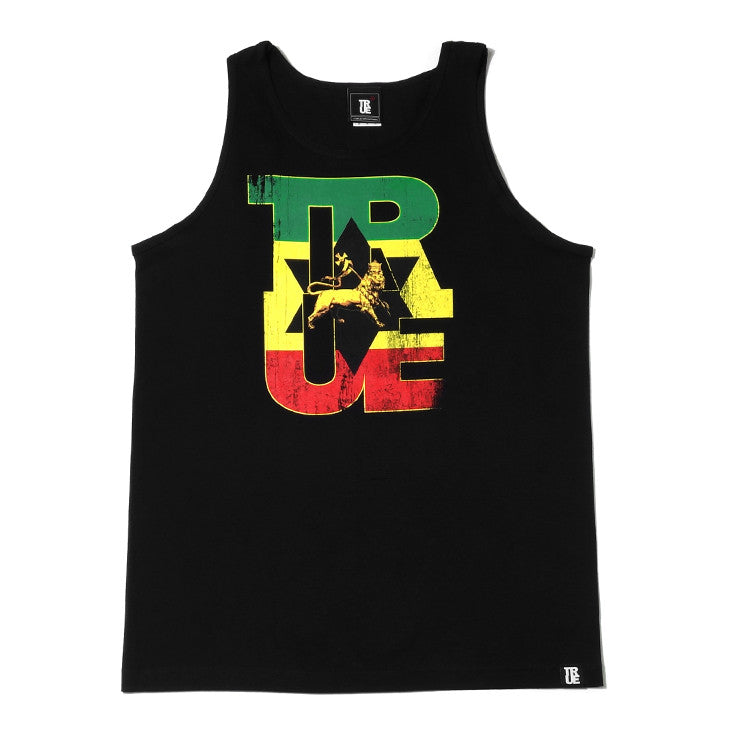 Mens True Logo Lion Tank Top Black - Shop True Clothing