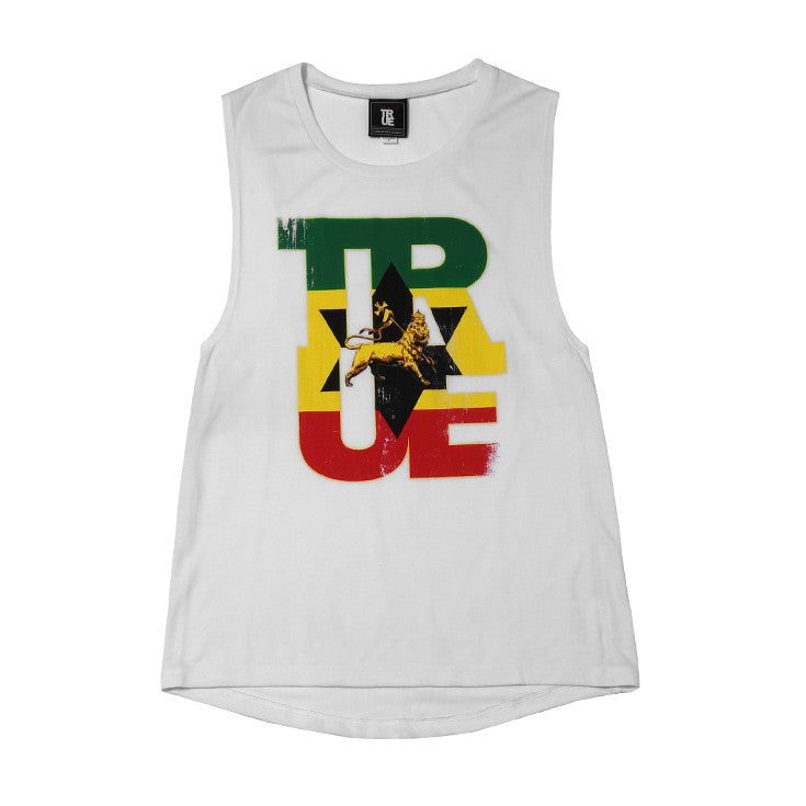 Womens True Logo Lion Tank Top White - Shop True Clothing