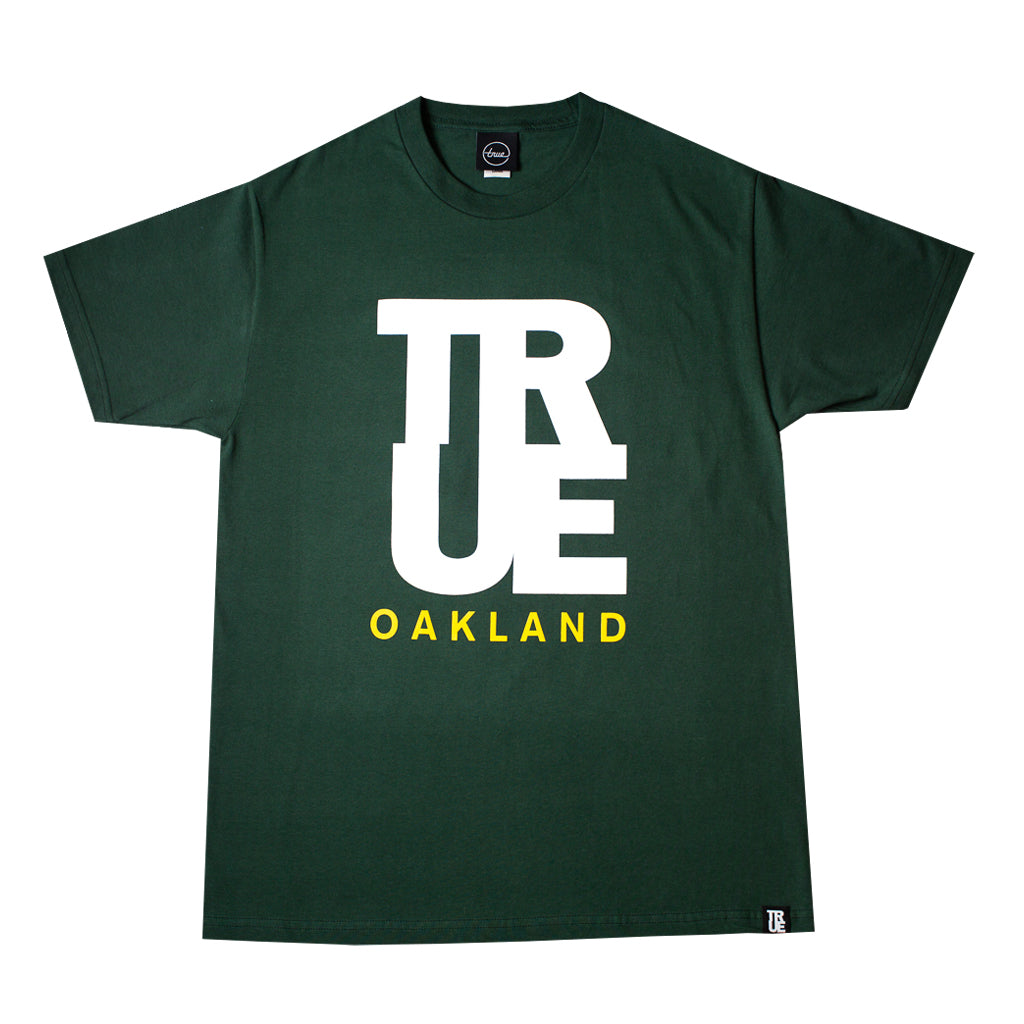 Mens True Logo Oakland T-Shirt Green