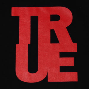 Mens True Logo Raglan T-Shirt Black/Red - Shop True Clothing