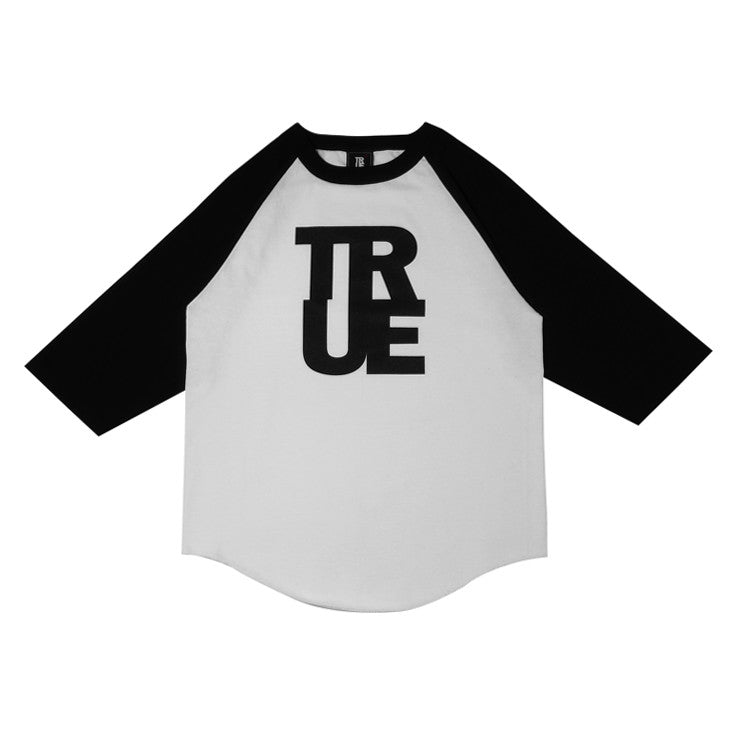 Mens True Logo Raglan T-Shirt White/Black
