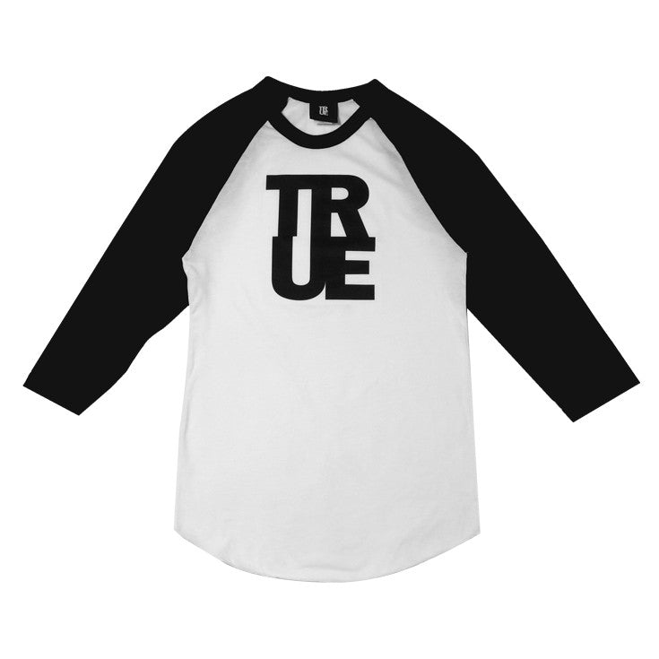 Womens True Logo Raglan T-Shirt White/Black