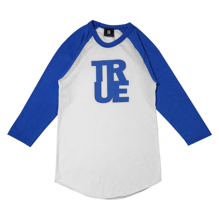 Womens True Logo Raglan T-Shirt White/Blue