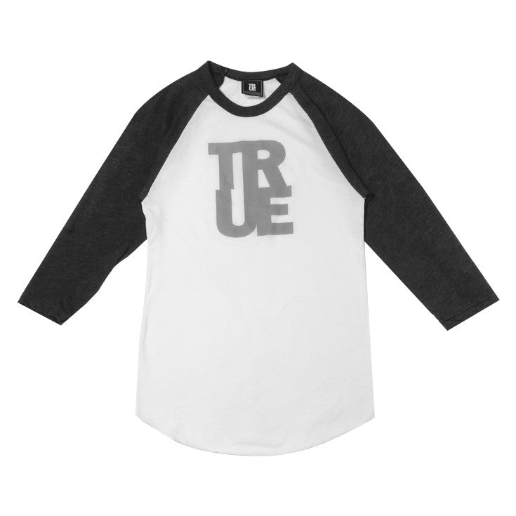 Womens True Logo Raglan T-Shirt White/Grey
