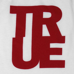 Womens True Logo Raglan T-Shirt White/Red - Shop True Clothing