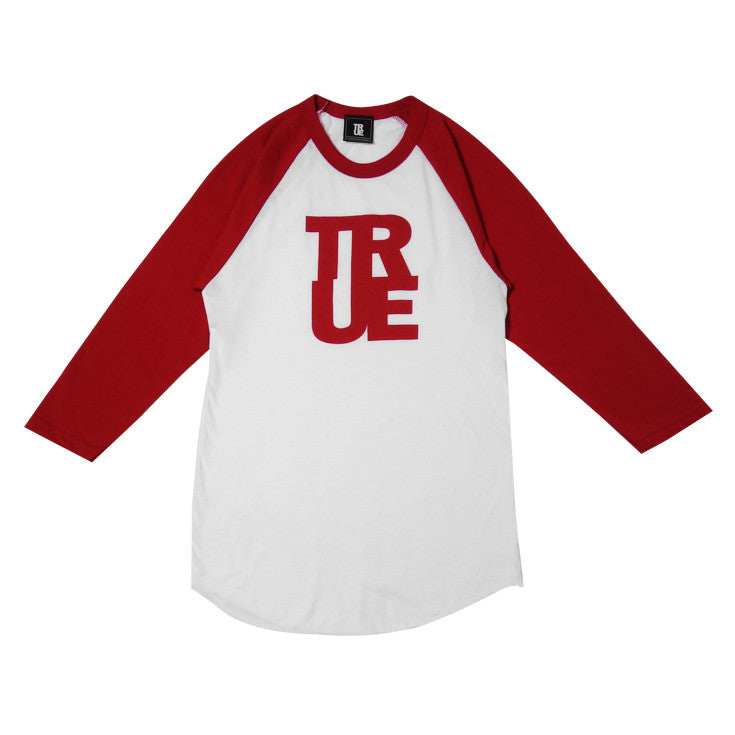 Womens True Logo Raglan T-Shirt White/Red