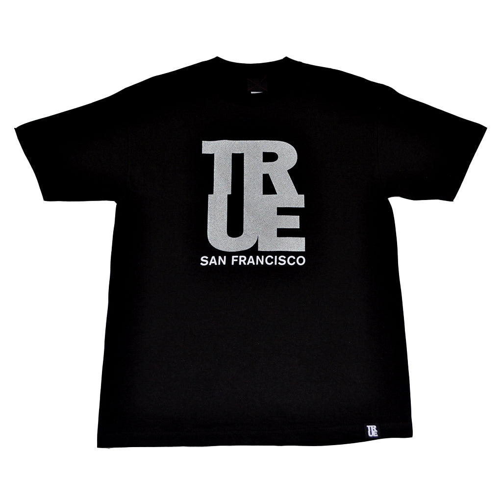 Mens True Logo SF T-Shirt Black/3M - Shop True Clothing