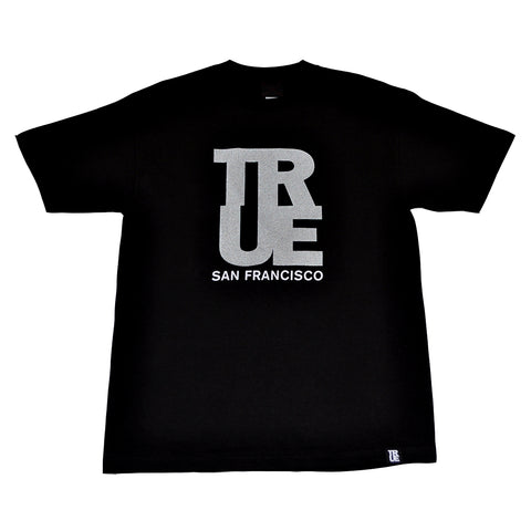 Mens True Logo SF T-Shirt Black/3M