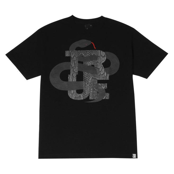 Mens True Logo Snake T-Shirt Black