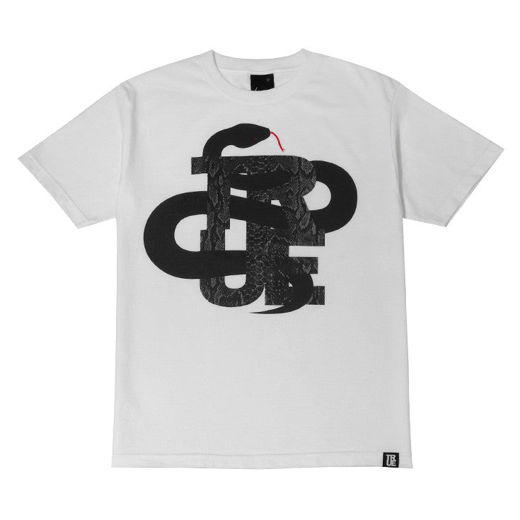 Mens True Logo Snake T-Shirt White - Shop True Clothing