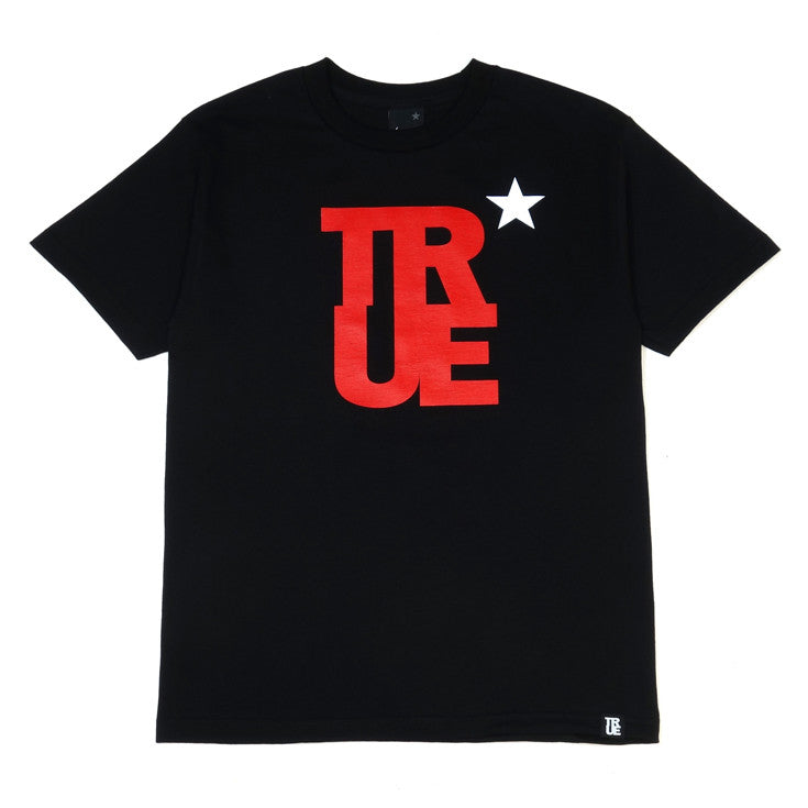 Mens True Logo Star T-Shirt Black/Red - Shop True Clothing