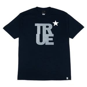Mens True Logo Star T-Shirt Navy/3M - Shop True Clothing