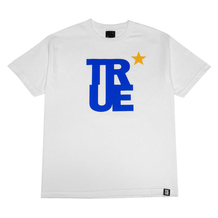 Mens True Logo Star T-Shirt White/Royal - Shop True Clothing