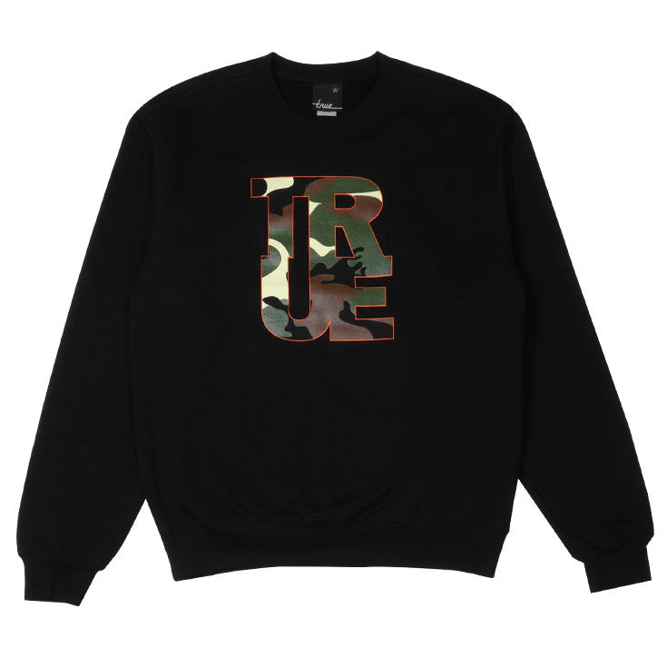 Mens True Logo Camo Crewneck Sweatshirt