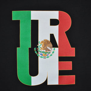 True Womens Logo Fill Mexico T-Shirt Black. - Shop True Clothing