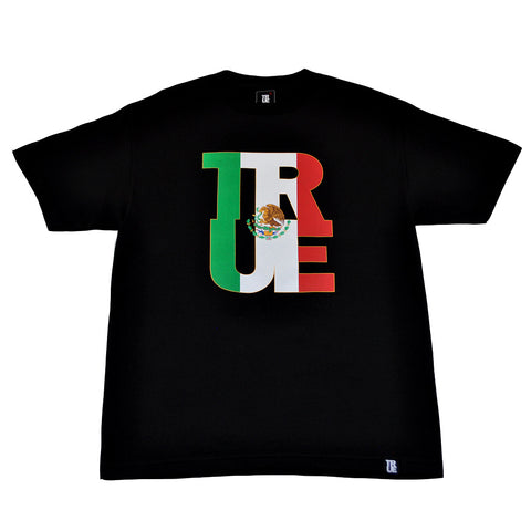 Mens True Logo Fill Mexico T-Shirt Black