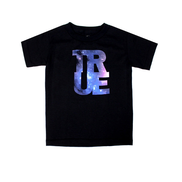 Kids True Logo Galaxy T-Shirt Black