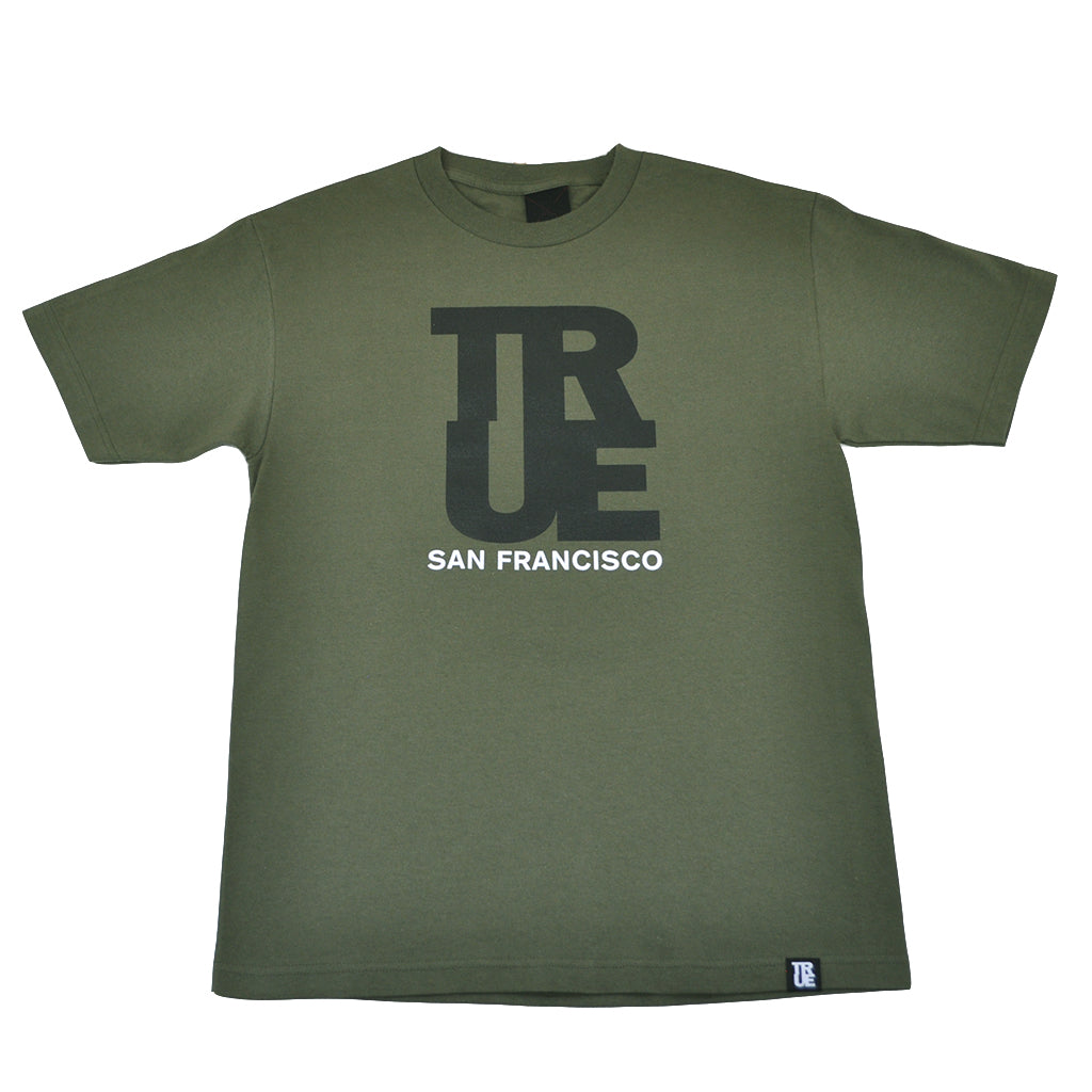 Mens True Logo SF T-Shirt Olive - Shop True Clothing