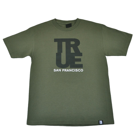 Mens True Logo SF T-Shirt Olive