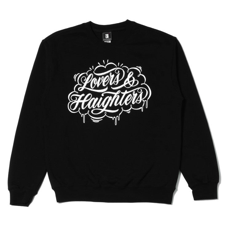 Mens True Love & Haight Crewneck Sweatshirt Black