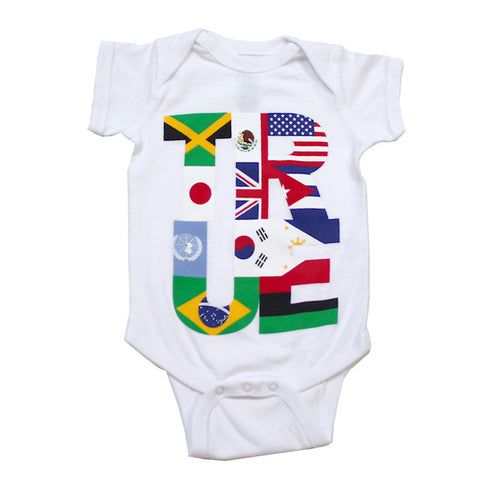 True Kids Nations One Piece White - Shop True Clothing