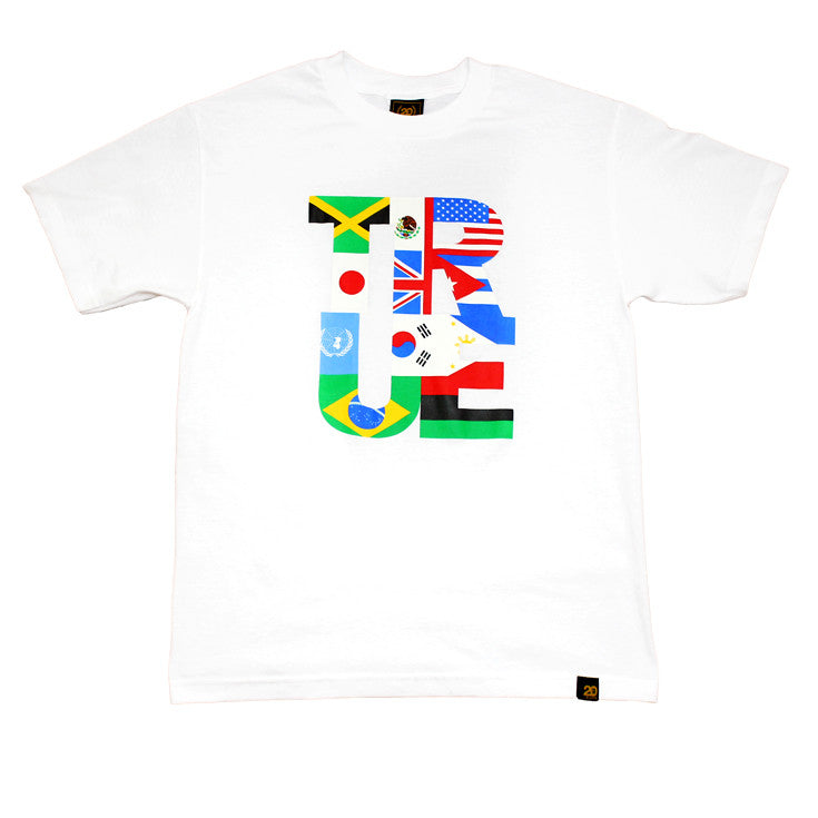 True Mens Nations T-Shirt White - Shop True Clothing
