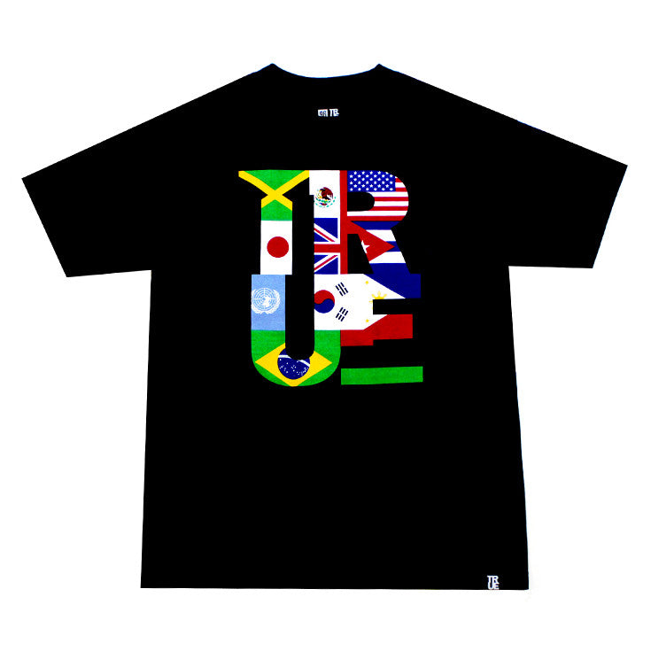 True Mens Nations T-Shirt Black - Shop True Clothing
