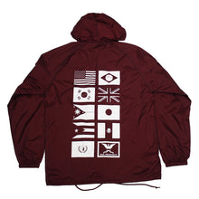 Load image into Gallery viewer, True Mens Nations Hooded Coaches Jacket Burgundy - Shop True Clothing