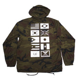 True Mens Nations Hooded Coaches Jacket Camo