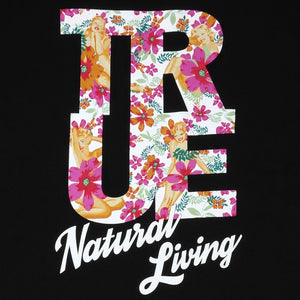 Mens True Natural Living T-Shirt Black - Shop True Clothing
