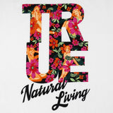 Mens True Natural Living Raglan T-Shirt White/Black